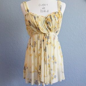 Free People Yellow Floral Tank Top